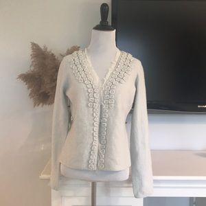 Moth Anthropologie M Merino Wool Cardigan Sweater
